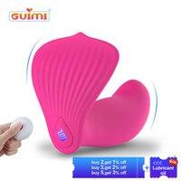 GUIMI Vibrating Panties Butterfly Dildo Vibrator G spot Stimulation Pussy Vagina Massage Lesbian Sex Toys for Woman Masturbator