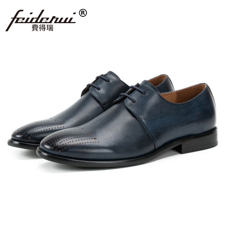 Luxury Genuine Leather Wedding Party Men's Handmade Footwear Summer Style Round Toe Derby Formal Dress Man Banquet Shoes SS231 plus size hot sale pointed toe derby man banquet footwear fashion genuine leather wedding party men s formal dress shoes sl451
