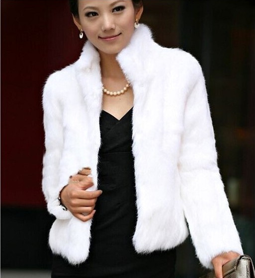 Élégante White Moelleux Renard De black Élégant Outwear Femmes Manteau Court Conception Réel Blanc D'hiver Fourrure 0xT4qZS