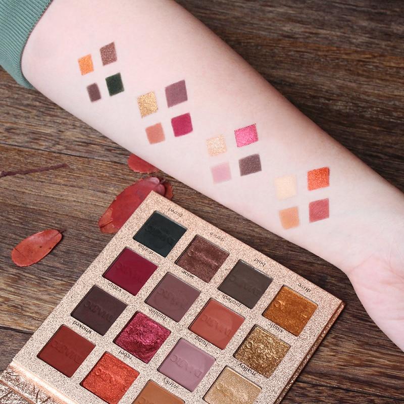 IMAGIC Beauty Shimmer Eyeshadow 16 Colors Palette Matte New Glitter Make Up Set