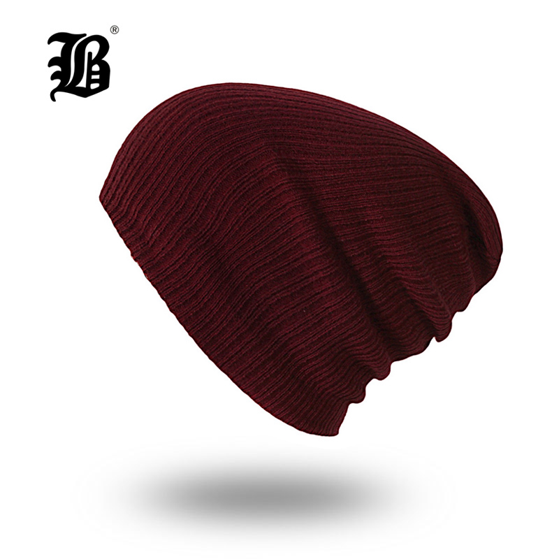 [FLB] Women Men Unisex Knitted Winter Cap Casual Beanies Solid Color Hip-hop Snap Slouch Skullies Bonnet beanie Hat FRX-2051