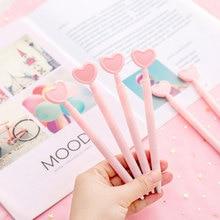 Cute Pink hearts neutral pen stationery gel pen office writing pens canetas material papelaria school supplies цена в Москве и Питере