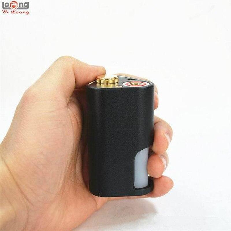 Nouveauté yiloong machette Squonker boîte mod BF MOD double 18650 batterie Squonker boîte avec 10 ml Silicone bouteille E-cigarette Mods