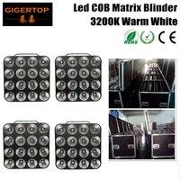 Flightcase 4in1 For 4Pcs 16 Heads Led Matrix Light Warm White 16Pcs 30W COB Matrix Blinder