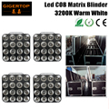 4em1 flightcase packing 4 xlot 16 cabeça led matrix light warm white 16*30 w cob matrix blinder luz para o fundo, a luz do estúdio