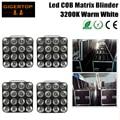 Flightcase 4in1 Packing 4XLOT 16 Head Led Matrix Light Warm White 16*30W COB Matrix Blinder Light For Background,Studio Light