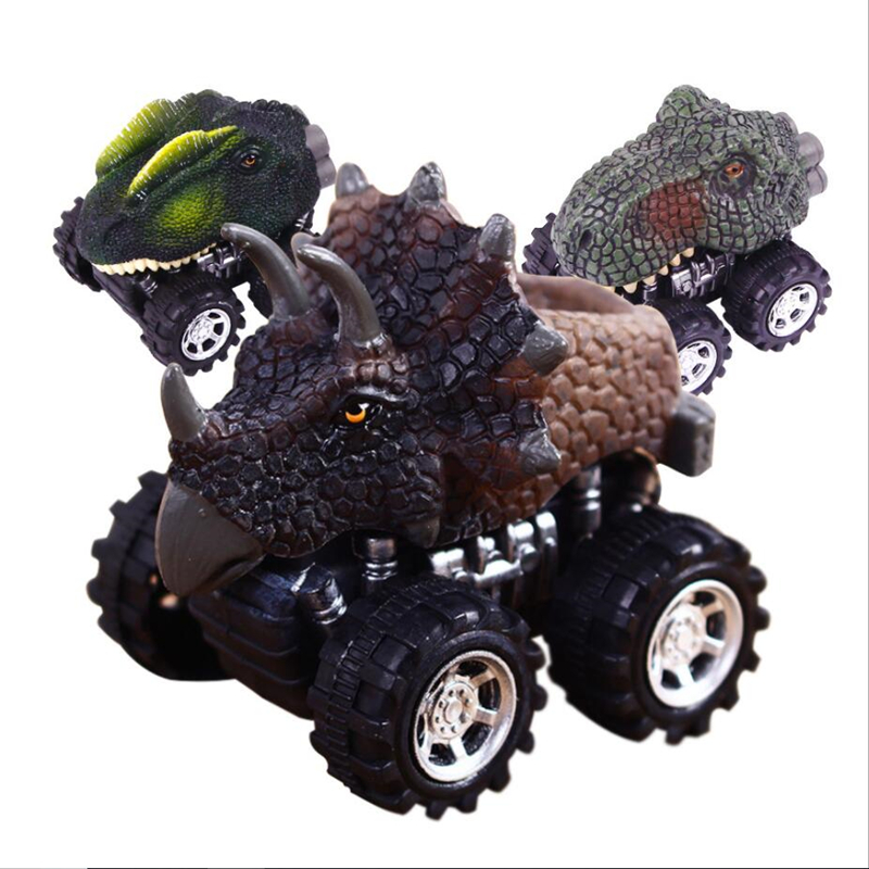 Masaki Mai Fashion New Gift Dinosaur Car Toys For Children Model Car Pull Back Mini Toys Car Kids Toys for Boys