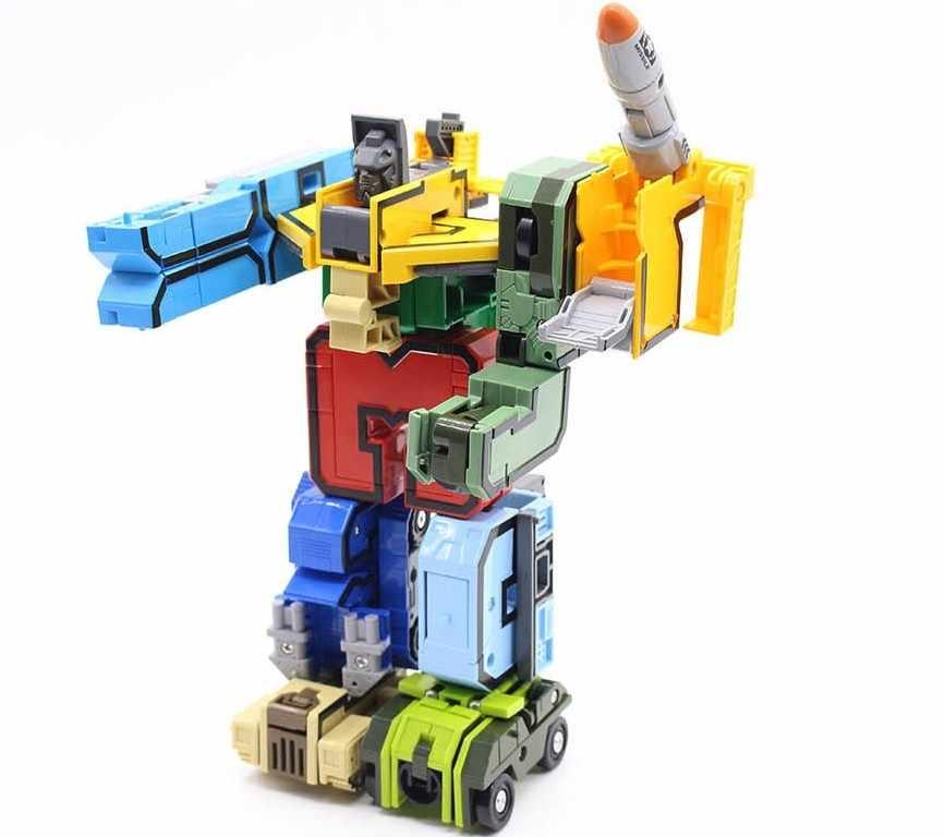 15 pcs Número Alfabeto Robô Transformação Robô Dinossauro Animal Figuras de Ação Modelo de Blocos de Construção Crianças Brinquedos Educativos presente