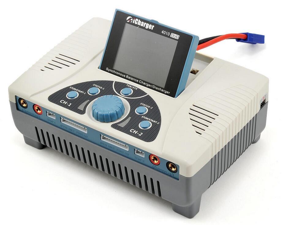 Nueva icharger 4010 Duo 2000 W 40A 10 s puerto dual Lipo Life cargador de batería DC NIB