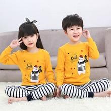 Autumn new childrens cotton underwear set boys and girls pajamas cartoon 2PCS