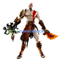 Free Shipping 7.5″ God of War Kratos in Golden Fleece Armor with Medusa Head PVC Action Figure Collection Model Toy zy005