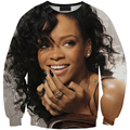HD 3D Rihanna print sweats fashion women moletons two side printing pullover long-sleeve o-neck clothing dropshipping