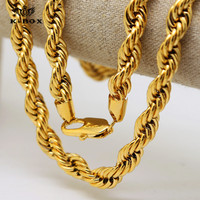 Mens 24K Yellow Gold Plated Necklace Bieber Rope Chain 30 Inch Length BIG FAT Thick 10mm