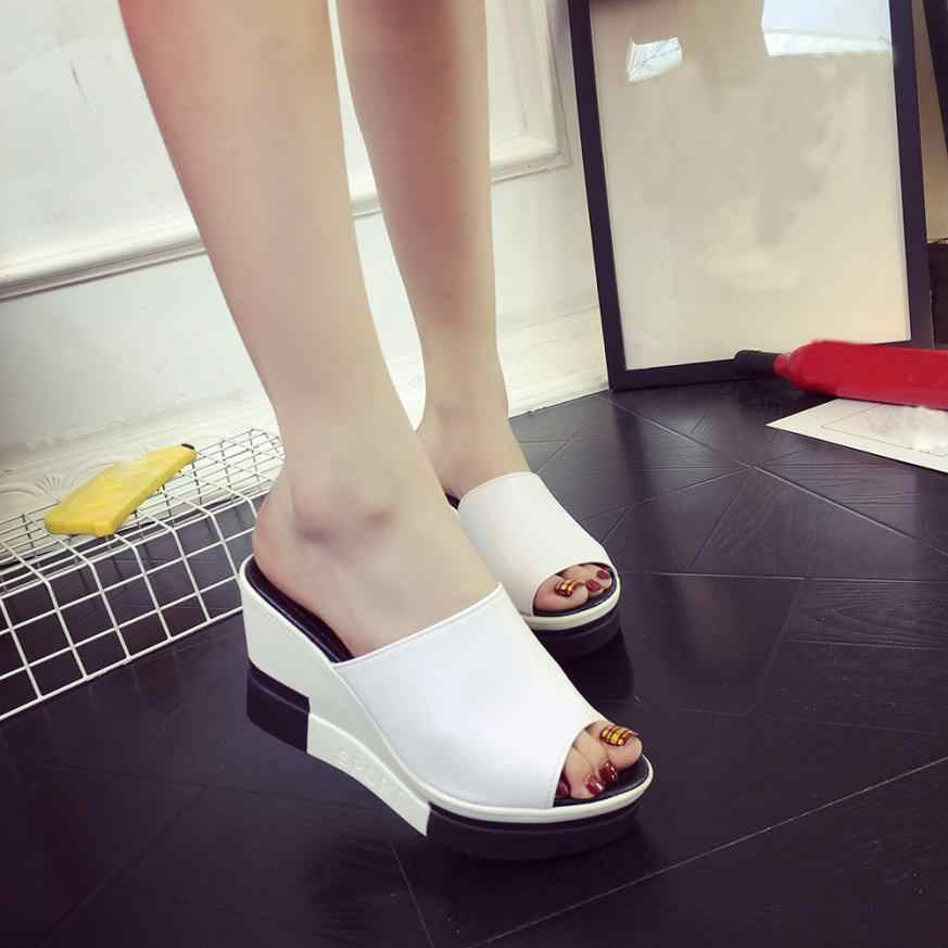 9de54d957c0171 Detail Feedback Questions about mokingtop Women s Summer Sandals Shoes Peep  toe Shoes Roman Sandals Ladies Flip Flops platform sandals women    on ...