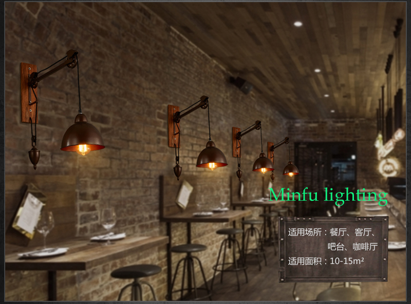 Muro del bagno lampade vintage illuminazione industriale coffee