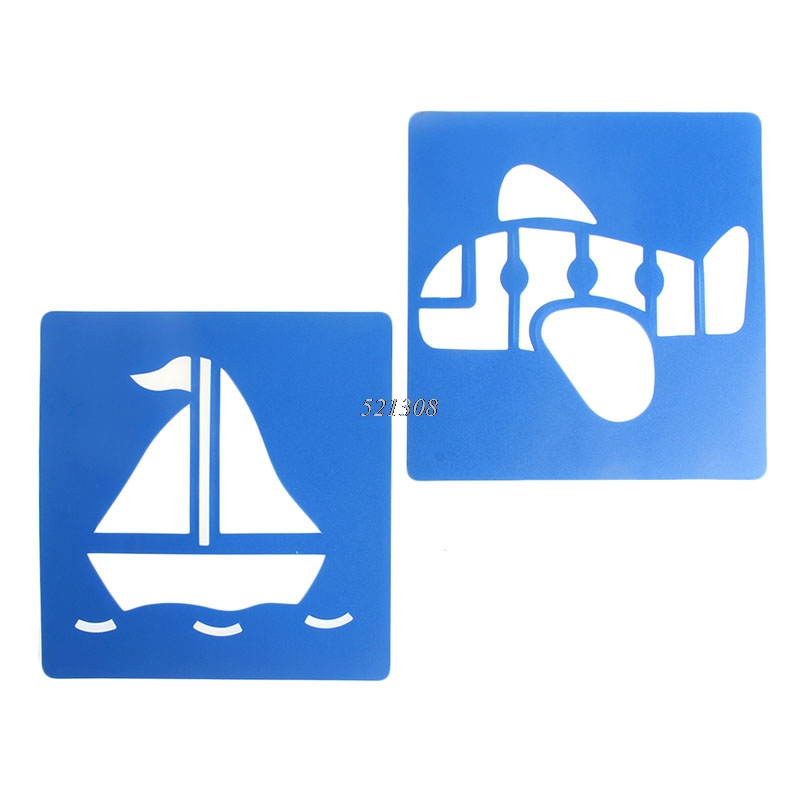 2017-Children-Transport-Shaped-Plastic-Painting-Drawing-Template-Stencil-Kids-Toy-6pcsset-FEB2330-4