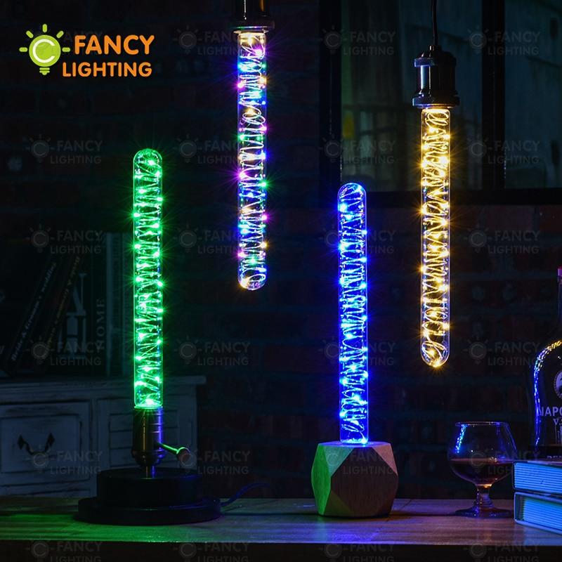 Led lamba T30 dize led floresan lamba ampul 110V220V dekoratif lampadas led ev/oturma odası/yatak odası/kutlama dekor led lamba