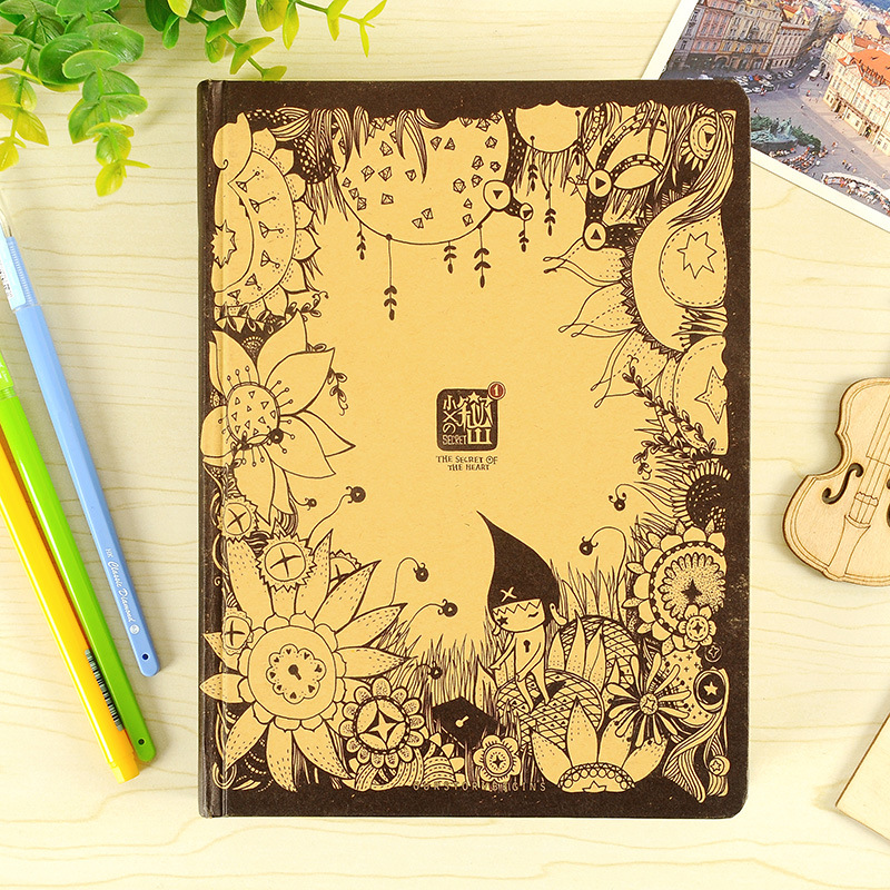 New Retro Secret Personal Diary Multi Function Vintage Schedule Cute Notebook Sketchbook Agenda 2018 Planner Organizer HJW005