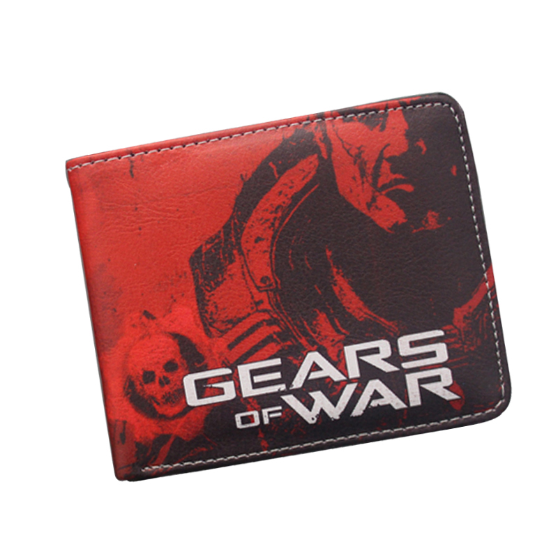 GEARS OF WAR Wallet Teenagers Boys Leather Short Wallet & Purse Skull Prints Billfold Dollar Money Bag School Card Holder Wallet xbox one gears of war 4 ultimate