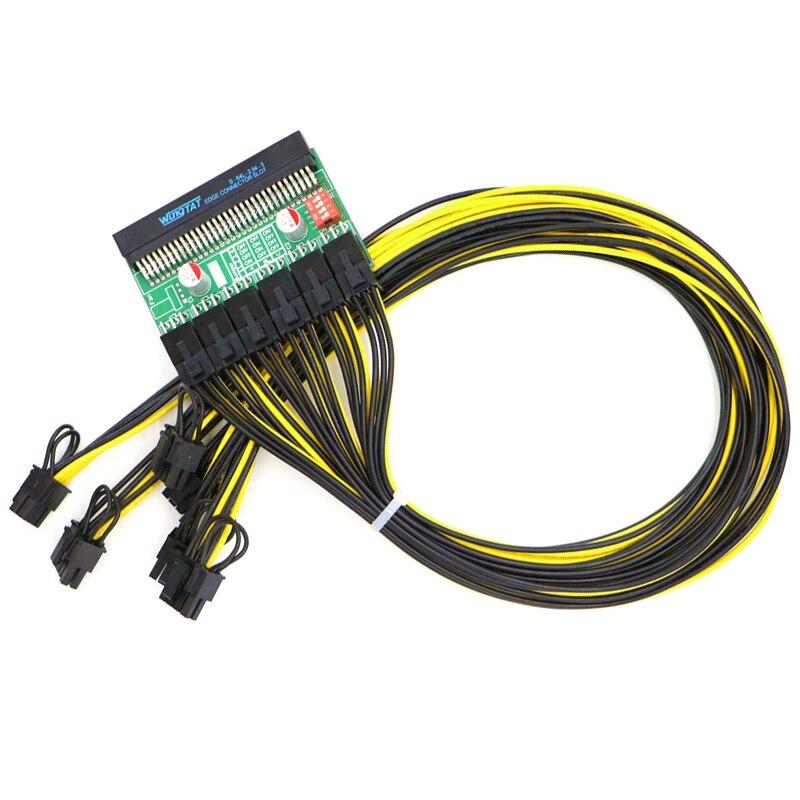 Kit d'alimentation minière-carte de rupture et câble 60 CM UL 1007 16AWG PCI-E 6Pin à 6 + 2Pin.