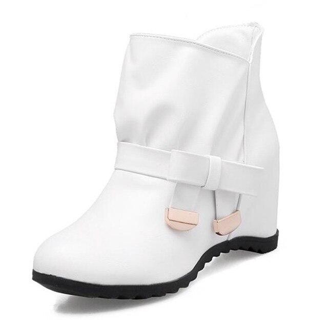 Студенческие короткие ботинки для больших мальчиков новые зимние корейские ботинки с милым бантом, увеличивающие рост, большие размеры 34-41