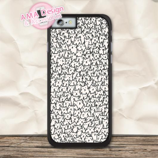Hundred Lovely Cats Phone Case For iPhone X 8 7 6 6s Plus 5 5s SE 5c 4 4s For iPod Touch