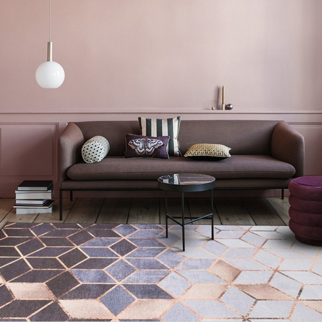 Nordic style metallic luster striped living room carpet, fashion big ...