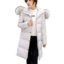SMXL plus size x-Long Winter Jacket Women Slim Coat Thicken Parka Down Clothing black Hooded Jackets sonw outerwear keep warm