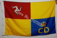 The Isle Of Man Civil Defence Service Flag National Flag 3X5FT 150X90CM Banner Brass Metal Holes
