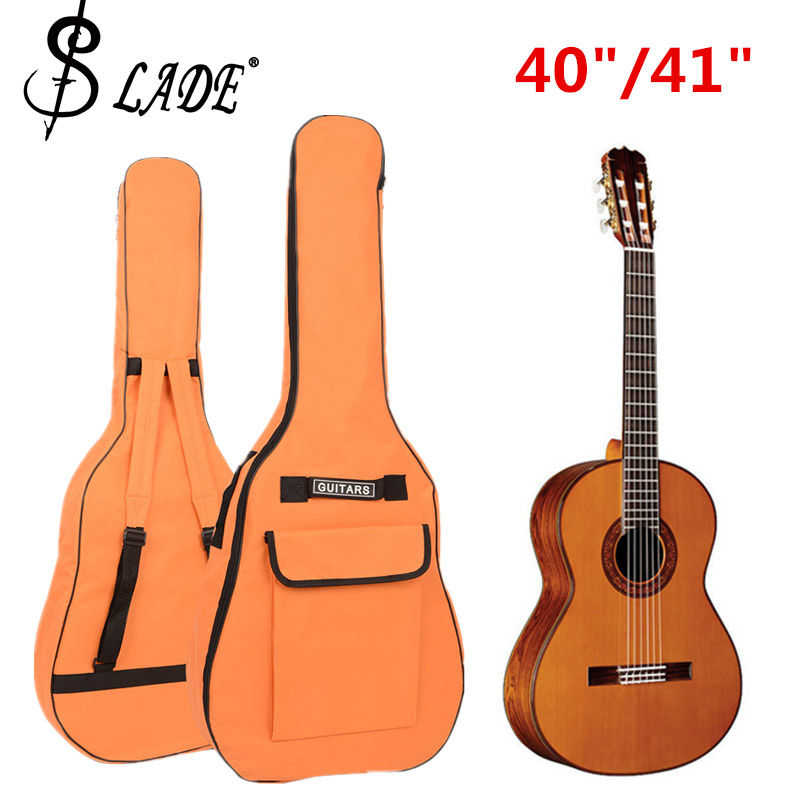 40/41 tums gitarrväska 600D Oxford Fabric Acoustic Guitar Gig Bag Väskan Soft Thicken Case Dubbla Axelremmar Vadderad Gitarr