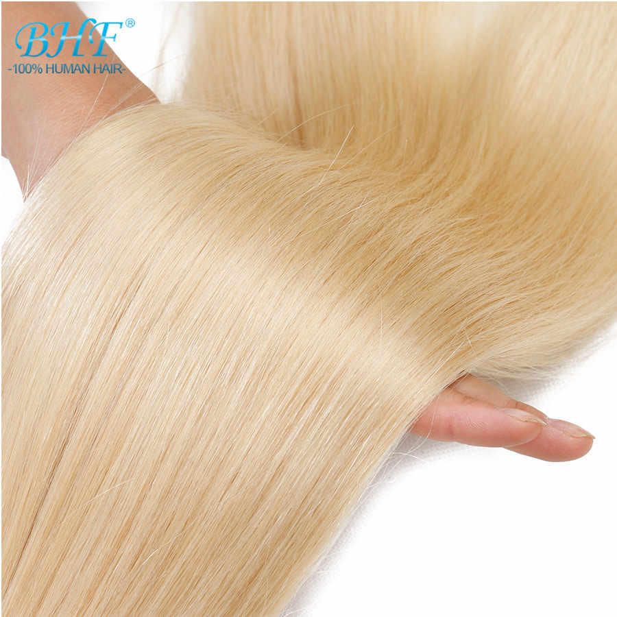 "BHF Double Drawn Platinum Blond Hair Weave Extensions Straight Remy Human Hair Weft 24"" to 28"" 100g/piece Free Shipping"