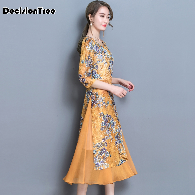 2019 été rétro moderne sexy chinois tang costume qipao costumes dragon phoenix courte cheongsam robes robe traditionnelle chinoise