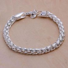 H070 925 jewelry silver plated bracelet, 925 jewelry silver plated  fashion jewelry Twisted Bracelet /aloajcva dxeamola