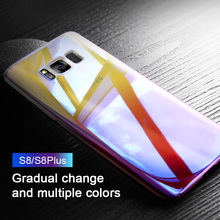 ZNP Luxury Gradient Color Phone Cases For Samsung Galaxy Note 8 S8 Plus S7 Edge Case For Samsung A3 A5 A7 2017 Protective Case