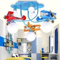Винтаж Утюг самолетов детская игрушка современные подвесные светильники мультфильм номер творческий бар детский сад декоративные подвесн