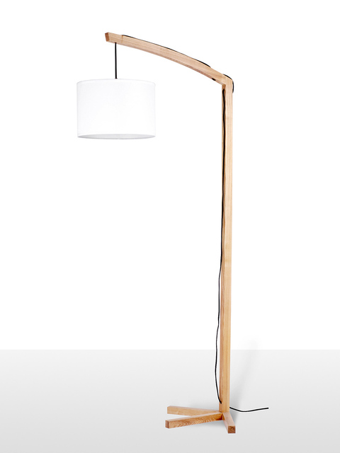 EMS Free Shipping E27 Modern Standard Floor Lamps Lantern With Pendant  Shade Floor Lighting PU LBMD