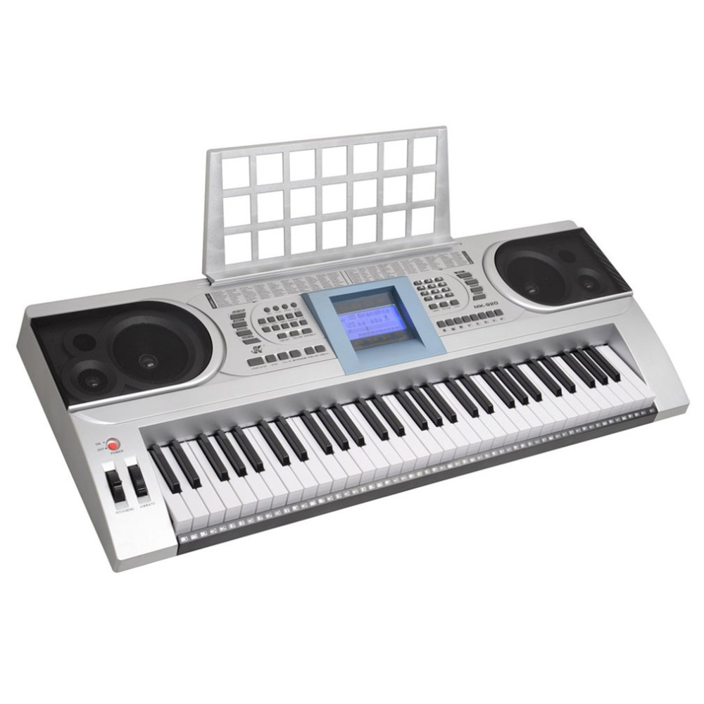 MK-920 100 Timbres 100 Rhythms Electronic Organ 61-Key Electronic Keyboard LCD Electone MP3 Music Player Electric Piano Silver piano lounge mp3
