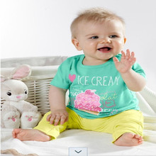 newborn boy pants harem boys infant boy clothing boutique letter tshirt casual suit children green 2