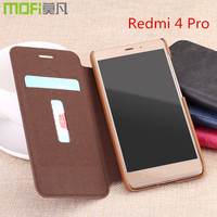 Xiaomi 4 Redmi 4 Pro Prime Case Cover MOFI Leather Flip Case Coque Card Slot Built