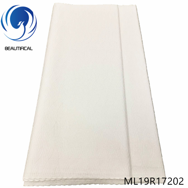 BEAUTIFICAL Nigerian swiss lace fabrics white Cotton swiss lace fabric for men 5yards 2019 New Polish voile lace  ML19R172BEAUTIFICAL Nigerian swiss lace fabrics white Cotton swiss lace fabric for men 5yards 2019 New Polish voile lace  ML19R172