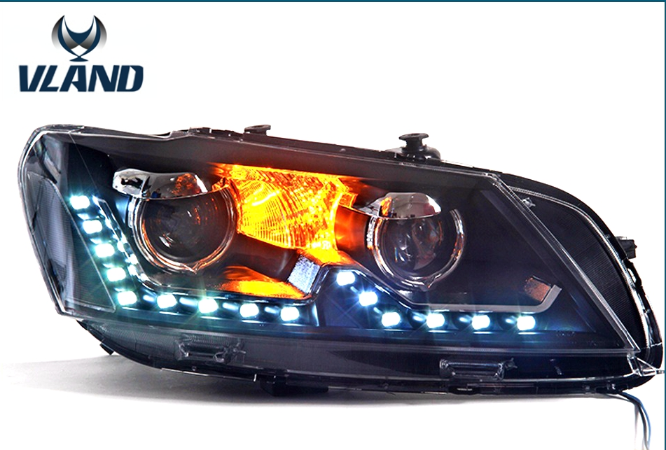 Free shipping for car head lamp For VW Passat headlights 2012 2015 Passat B7 headlight LER DRL H7 HID Bi-Xenon Len