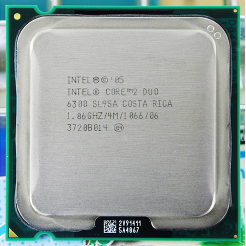 Original INTEL E6300 SOCKET LGA 775 CPU procesador (1,8 GHz/2 M/1066 GHz) CPU de escritorio