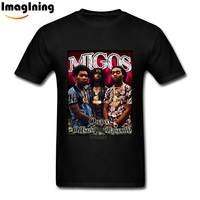 Hip Hop Style Migos 90s Inspired Graphic T Shirt Quality Custom Short Sleeve Mens 100 Cotton