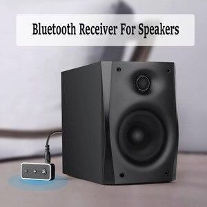 Image 4 - Bluetooth 5.0 מקלט לרכב מוסיקת סטריאו 3.5mm AUX שקע Hifi אודיו אלחוטי דיבורית מתאם עבור אוזניות רמקול עם מיקרופון