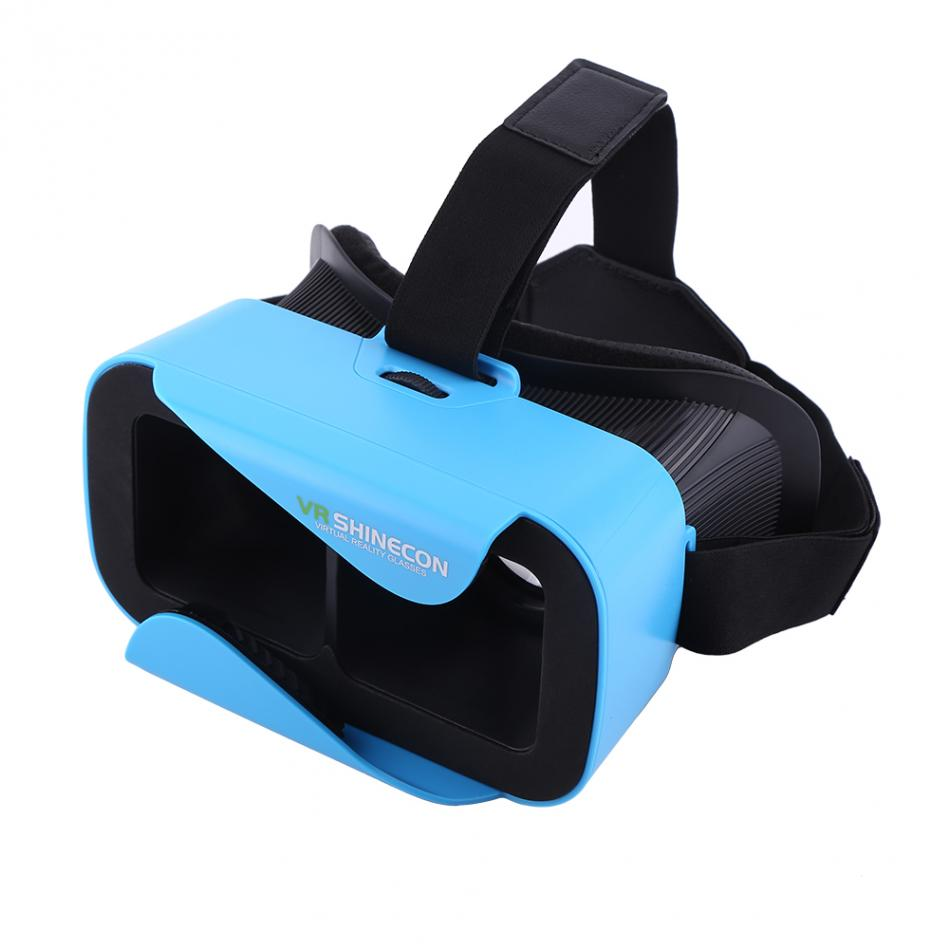 VR Shinecon 3D VR Glasses Virtual Reality Headset wih Adjustable Strap for 4.7-6.0 inch Smartphone Blue