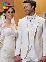 Men Suit Wedding Suits For Man White Bridegroom Groom Custom Slim Fit Formal Blazer Prom Tuxedo Tailor Costumes Best Man 3Pieces