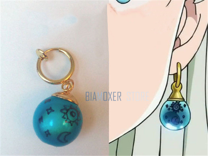 1 piece The Seven Deadly Sins Earring Elizabeth Liones Cosplay Princesa Blue Cosplay Props Earring Ear clip