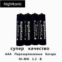 ФОТО Nightkonic 4 PCS/LOT 12V 1000mah AAA Battery NI-MH  Rechargeable Battery  BLACK