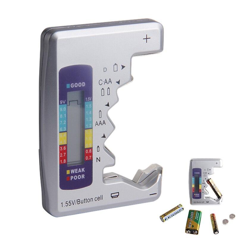 Verificador da capacidade da bateria do verificador da bateria de digitas para o instrumento de medição da fonte de alimentação da bateria do lítio de c/d/9 v/aa/aaa/1.5 v