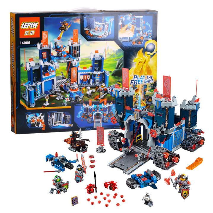 lepin nexo caballeros el fortrex bloques de construccin ladrillos juguetes para los nios juego castillo